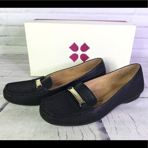 Naturalizer Sz 10 Gadget Loafers Flats Black Snake